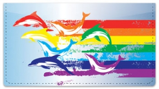 Click on Rainbow Dolphin Checkbook Cover For More Details