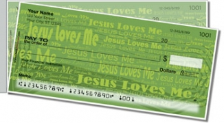 Click on Jesus Loves Me Side Tear Personal Checks For More Details