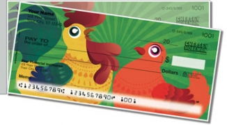 Click on Cartoon Rooster Side Tear Personal Checks For More Details