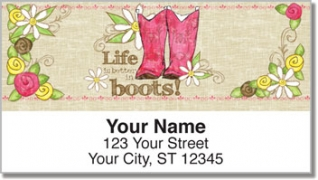 Click on Cowgirl Happy Address Labels For More Details