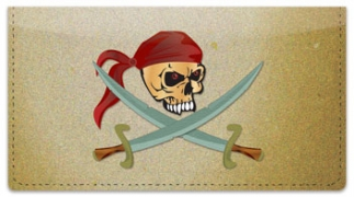 Click on Pirate Checkbook Cover For More Details