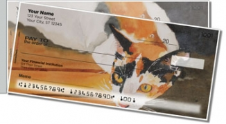 Click on Calico Cat Side Tear Personal Checks For More Details