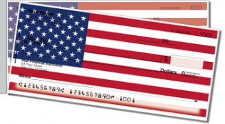 Click on US Flag Side Tear Personal Checks For More Details