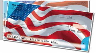 Click on Waving US Flag Side Tear Personal Checks For More Details
