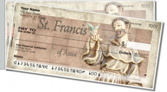 Click on Christian Saint Side Tear Personal Checks For More Details
