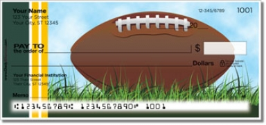 Click on Green & Gold Football Fan Personal Checks For More Details