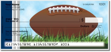 Click on Blue & Silver Football Fan Personal Checks For More Details