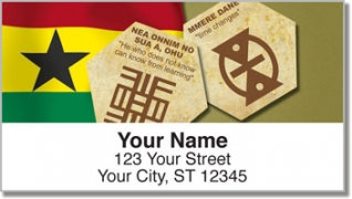 Click on Adinkra Address Labels For More Details
