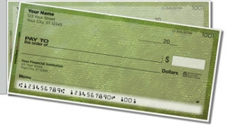 Click on Burlap Side Tear Personal Checks For More Details