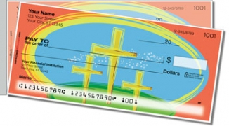 Click on Christian Cross Side Tear Personal Checks For More Details