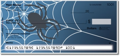 Click on Scary Spider Personal Checks For More Details