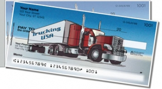 Click on Semi Truck Side Tear Personal Checks For More Details
