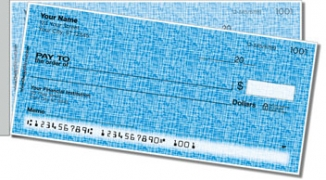Click on Blue Linen Side Tear Personal Checks For More Details