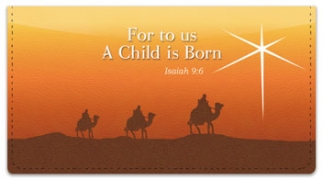 Click on Nativity Scene Checkbook Cover For More Details