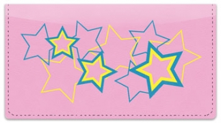 Click on Multi-Colored Stars Checkbook Cover For More Details