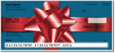 Click on Christmas Bow Personal Checks For More Details