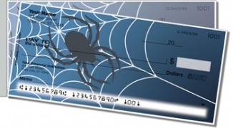 Click on Scary Spider Side Tear Personal Checks For More Details