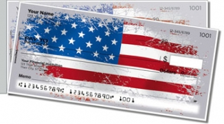 Click on American Flag Side Tear Personal Checks For More Details