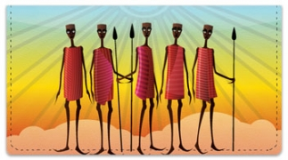 Click on Maasai Tribe Checkbook Cover For More Details
