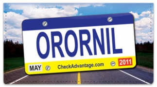 Click on License Plate Checkbook Cover For More Details