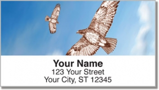 Click on Red-Tailed Hawk Address Labels For More Details