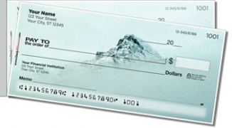 Click on Winter Mountain Side Tear Personal Checks For More Details