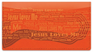 Click on Jesus Loves Me Checkbook Cover For More Details