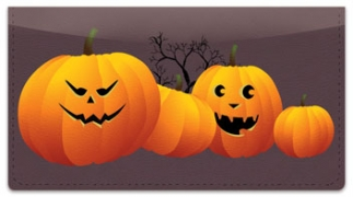 Click on Jack-o-Lantern Checkbook Cover For More Details