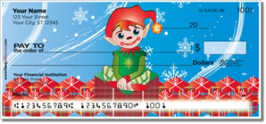 Click on Christmas Elf Personal Checks For More Details