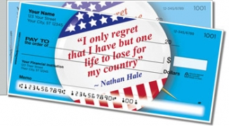 Click on Patriotic Button Side Tear Personal Checks For More Details