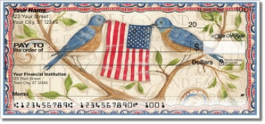 Click on McRostie Americana Personal Checks For More Details