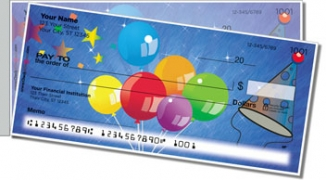 Click on Party Balloon Side Tear Personal Checks For More Details