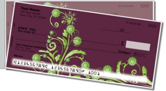Click on Swirl Flower Side Tear Personal Checks For More Details