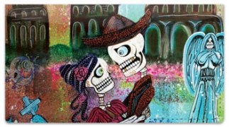 Click on Day of the Dead Skull Checkbook Cover For More Details