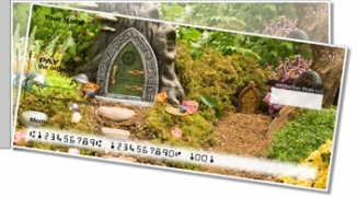 Click on Woodland Fairy Side Tear Personal Checks For More Details