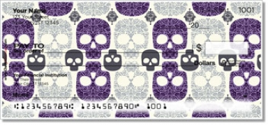 Click on Damask Skull Personal Checks For More Details