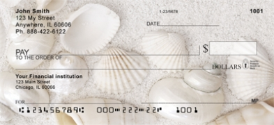 Click on Pearly White Sea Shells Personal Checks For More Details