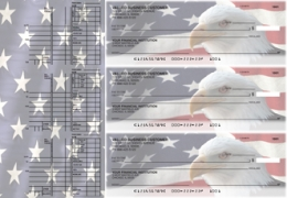 Click on American Flag Multi Purpose Designer Business Checks For More Details