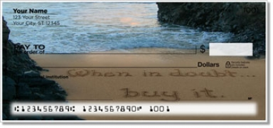 Click on Quote Sand Scribbles Personal Checks For More Details