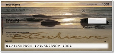 Click on Inspirational Sand Scribbles Personal Checks For More Details