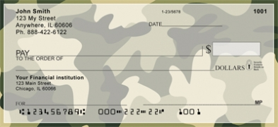 Click on Multi-Color Camo Personal Checks For More Details