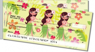 Click on Hula Girl Side Tear Personal Checks For More Details