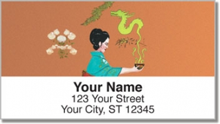 Click on Asian Art Address Labels For More Details
