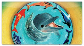 Click on Swimming Dolphin Checkbook Cover For More Details