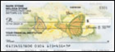 Click on Butterfly Blooms Side Tear - 1 box Personal Checks For More Details