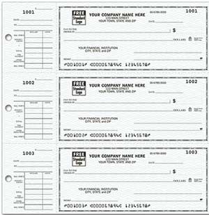 Learn more about Desk Set Checks 3-On-A-Page Compact Size Checks with Side-Tear Voucher