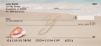 Click on Sand Written Monogram Y Personal Checks For More Details