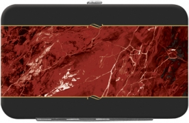 Learn more about Burgundy Marble Debit Mini Clutch