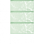 Click on Green Marble Blank 3 Per Page Wallet Checks For More Details