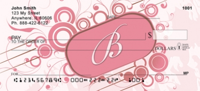Click on Stylish Monogram B Personal Checks For More Details